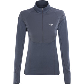 Arc'teryx Taema Zip Neck LS Shirt Women Midnight